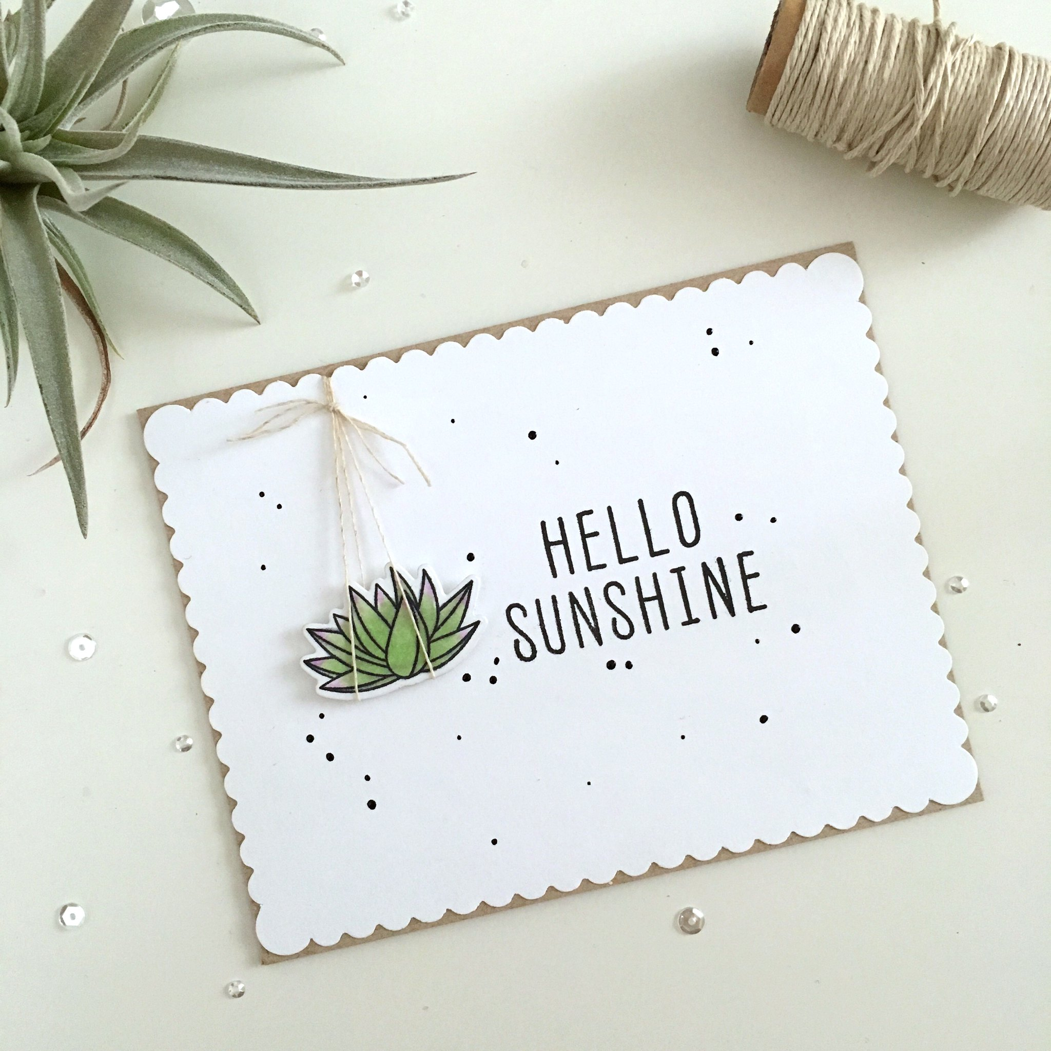 Hello Sunshine mft sweet succulents