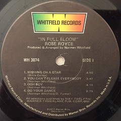 ROSE ROYCE:IN FULL BLOOM(LABEL SIDE-A)