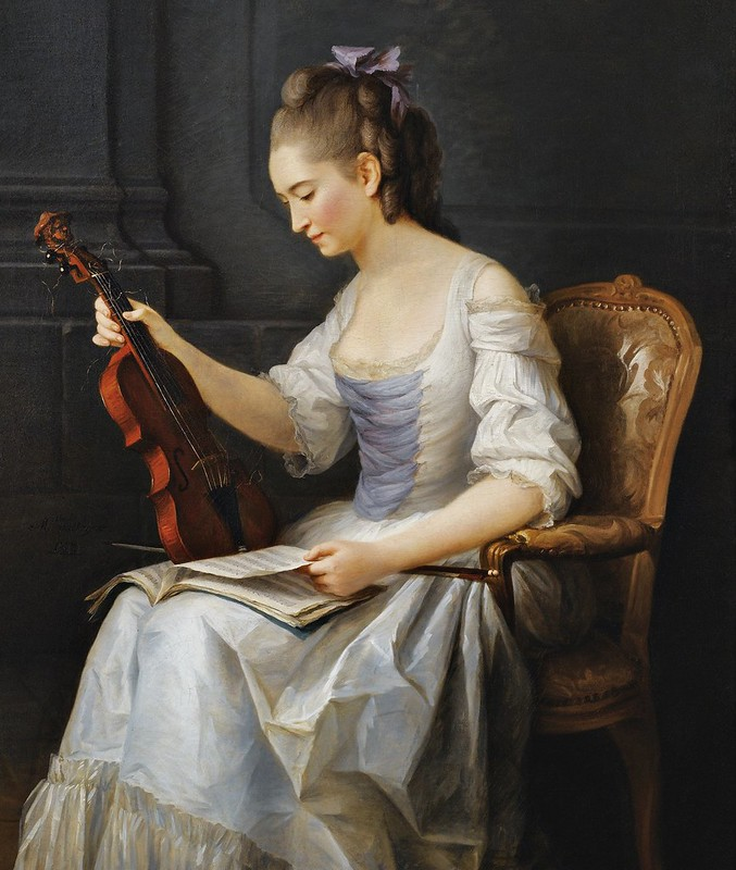 Anne Vallayer-Coster - Portrait d'une violoniste