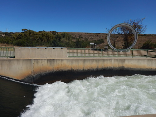Lesotho Water flowing into South Africa and the pipe