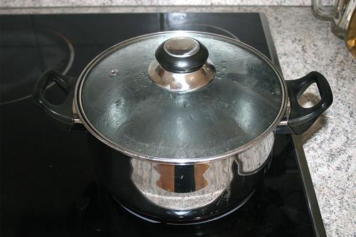 32 - Topf mit Wasser für Kartoffeln aufsetzen / Bring water for potatoes to a boil