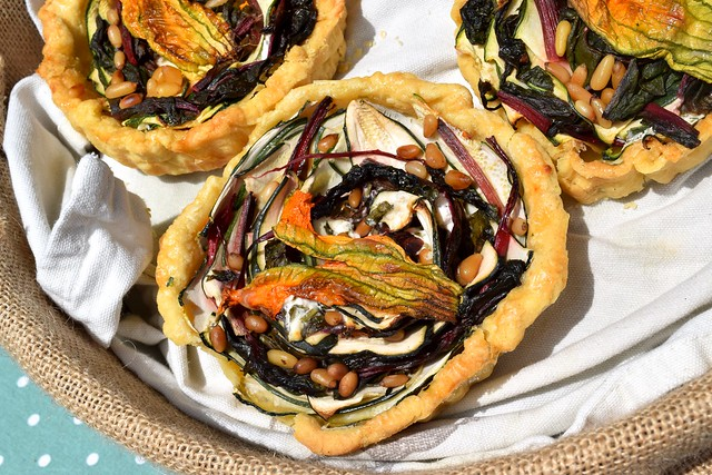 Courgette & Goats Cheese Tarts at Walmer Food Festival