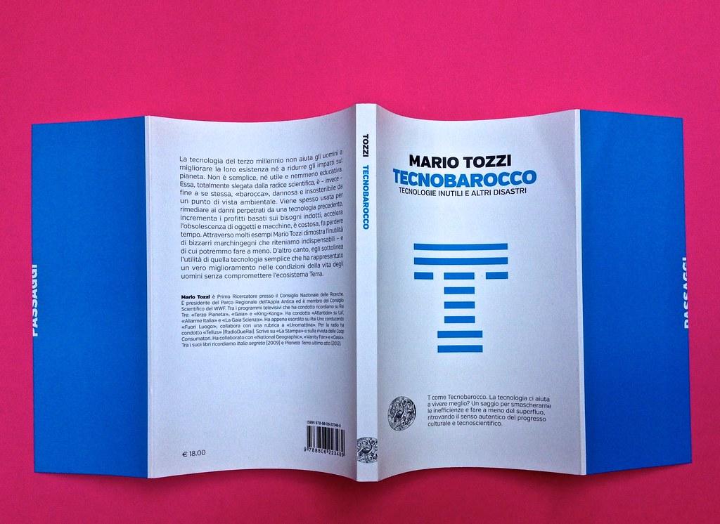 Mario Tozzi, Tecnobarocco. Einaudi 2015. Responsabilità grafica non indicata [Marco Pennisi]. Totale copertina (part.), 1