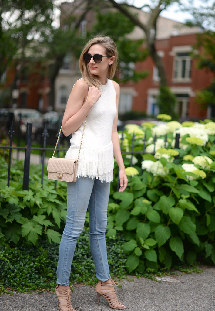 fringe top light jeans chanel-bag