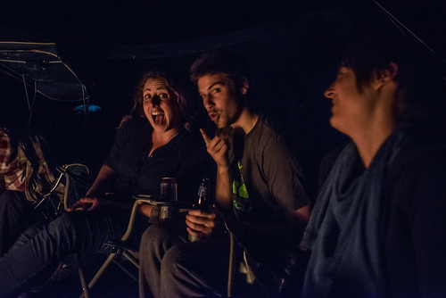 Tara, Dan & Ash Goofing Around by the Fire | by goingslowly