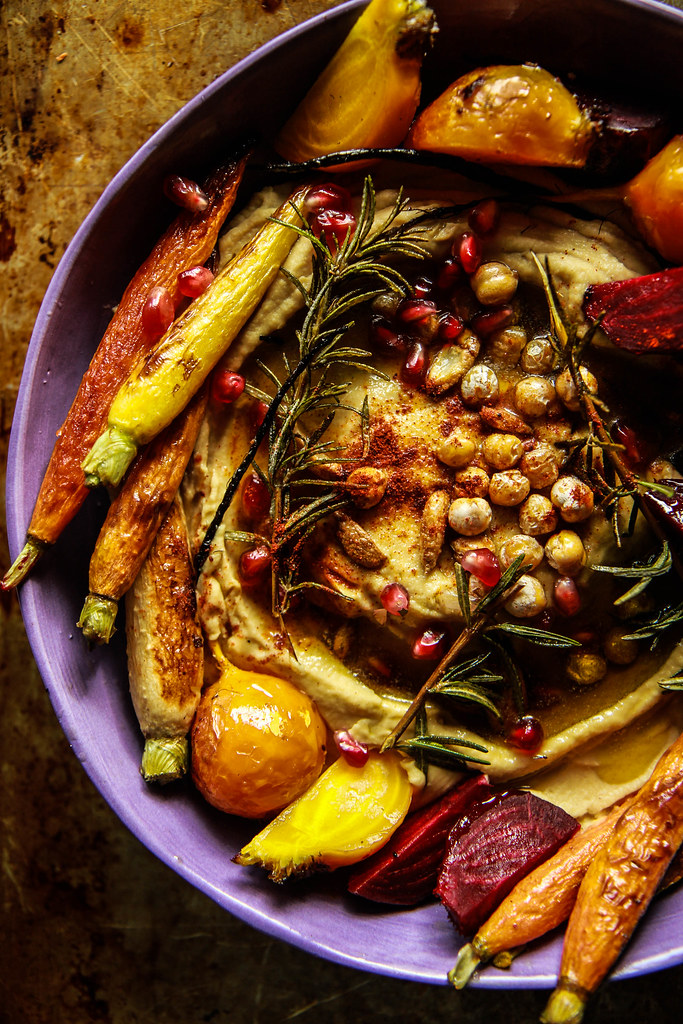 Vegan Winter Harvest Hummus Bowl from HeatherChristo.com