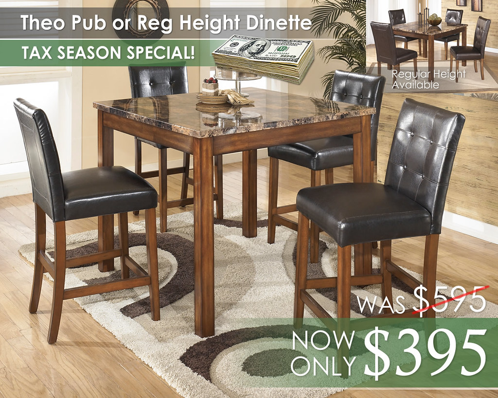 Theo Pub or Regular Height Dinette D158-225