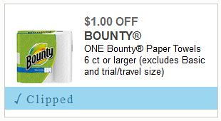 deals on Charmin and Bounty