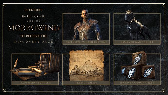 The Elder Scrolls Online Morrowind Preorder Bonus Discovery Pack