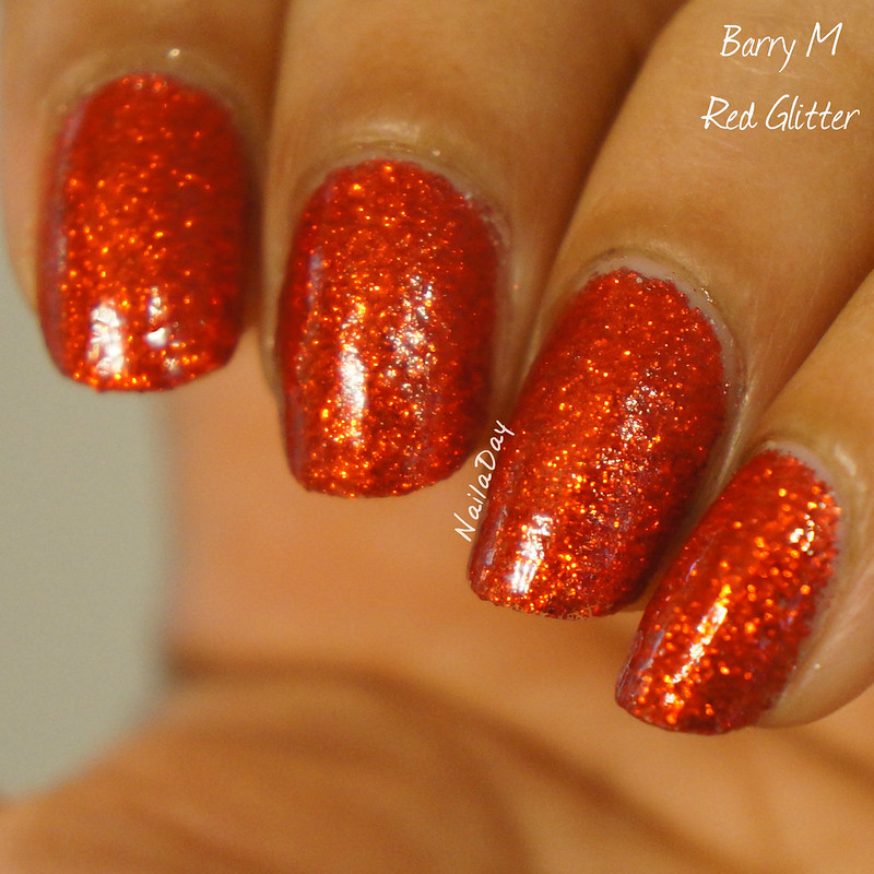 NailaDay: Barry M Red Glitter