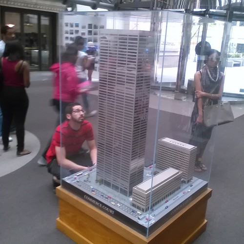Model of Commerce Court  #toronto #skyscraper #cibc #commercecourt #financialdistrict #doorsopentoronto