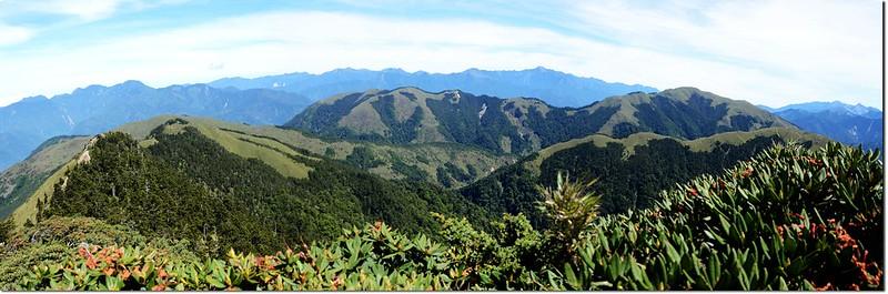 合歡山頂展望(由西至北)