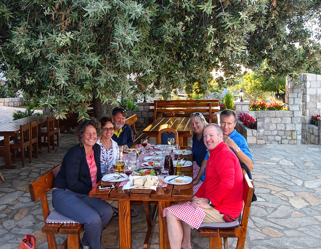 Dinner in the hills of Brac
