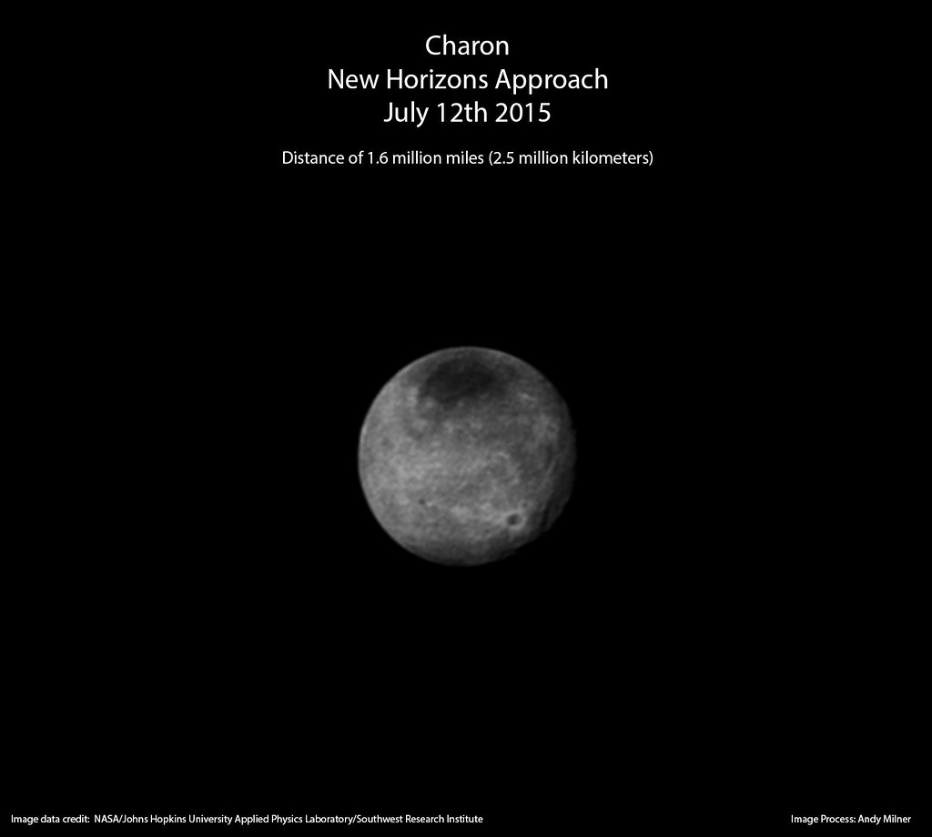 Charon - New Horizons Approach - July 12th 2015 | Pluto's la… | Flickr