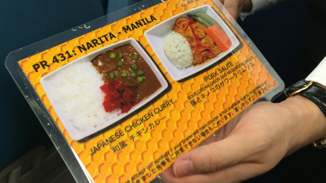 Laminated airplane menus