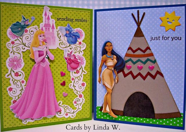Aurora and Pocahontas