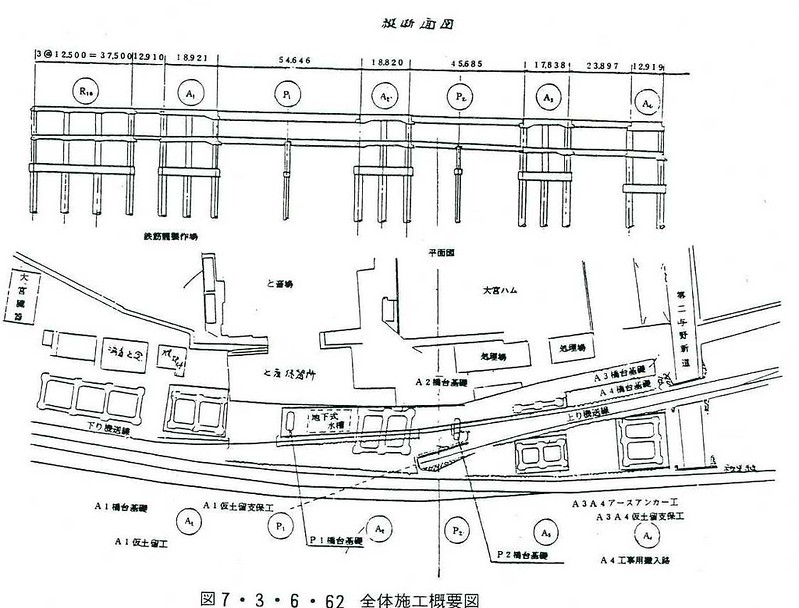 大宮駅付近の上越新幹線新宿ルート準備工等 (6)