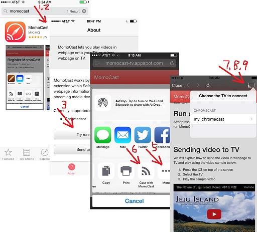 MomoCast for Safari on iPhone and iPad
