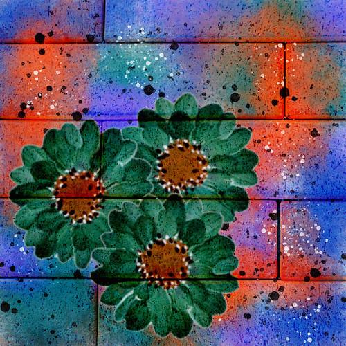 Digital flower painting