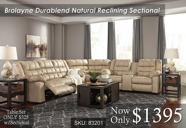 Brolayne Natural Sectional