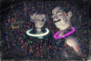 Groucho at the Deep Dream Rave | by botgirlq