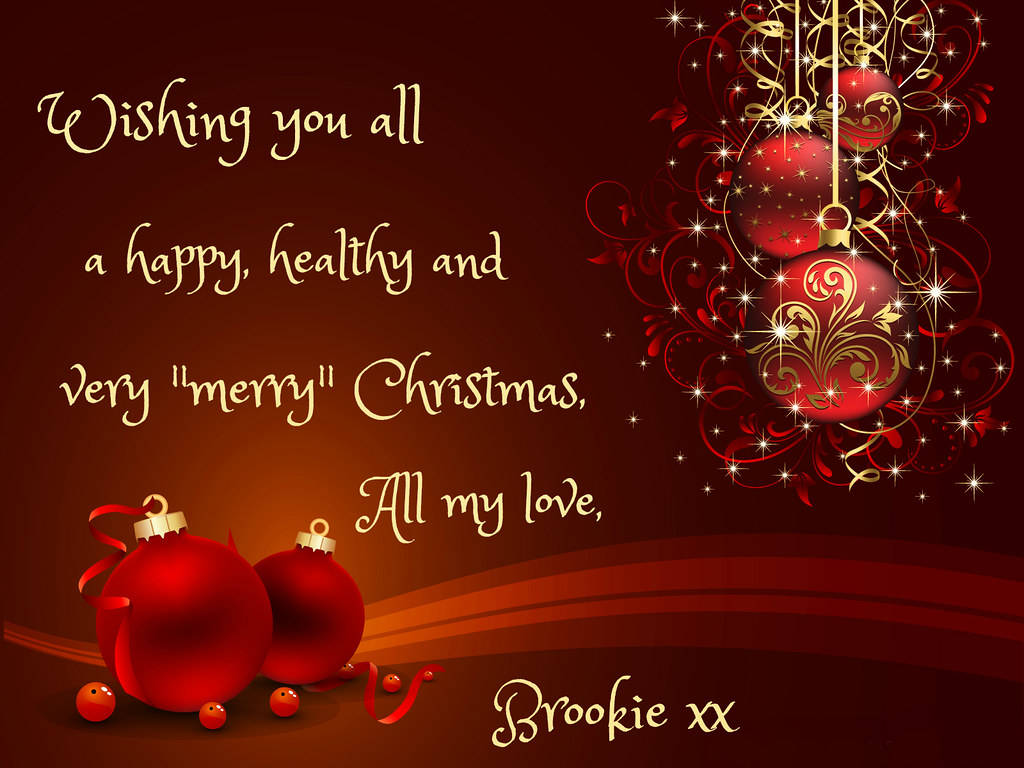 Happy Christmas, Love Brookie