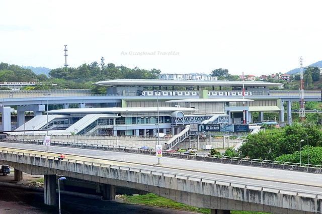 View of Sungai Buloh terminus station from the train
