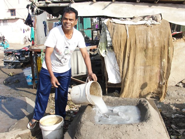 """There is no sewage system for our houses. After repeated requests to municipal authorities, a sewage chamber is made for us on the main drainage channel to throw sewage into it,"" says 48-year-old Santosh Wakode, a resident of Ramabai Nagar."