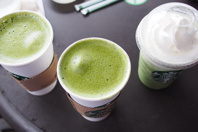 Tour of Singapore: Starbuck matcha lattes at One Fullerton