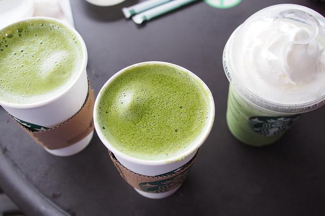 Tour of Singapore: Starbuck matcha lattes at One Fullerton