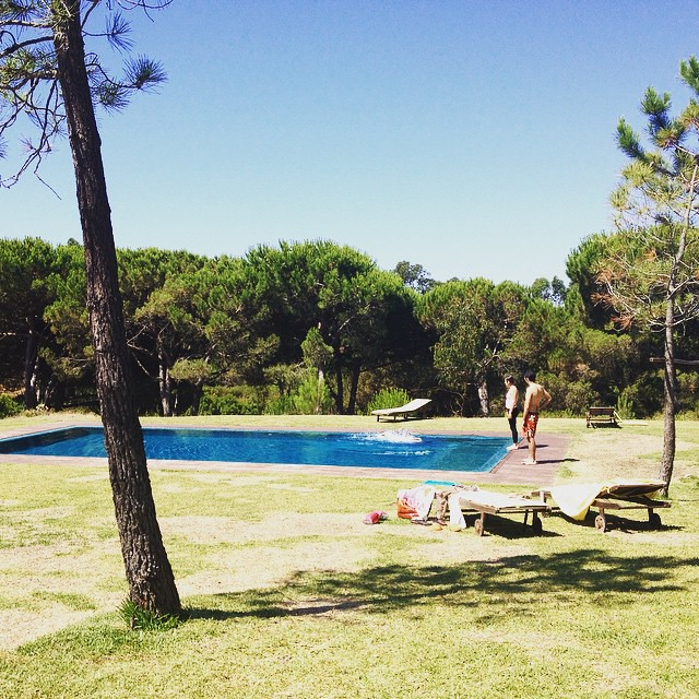 Other times, summer looks like this. (The yoga retreat we attended last weekend.) #perfectblue #portugal #p3top