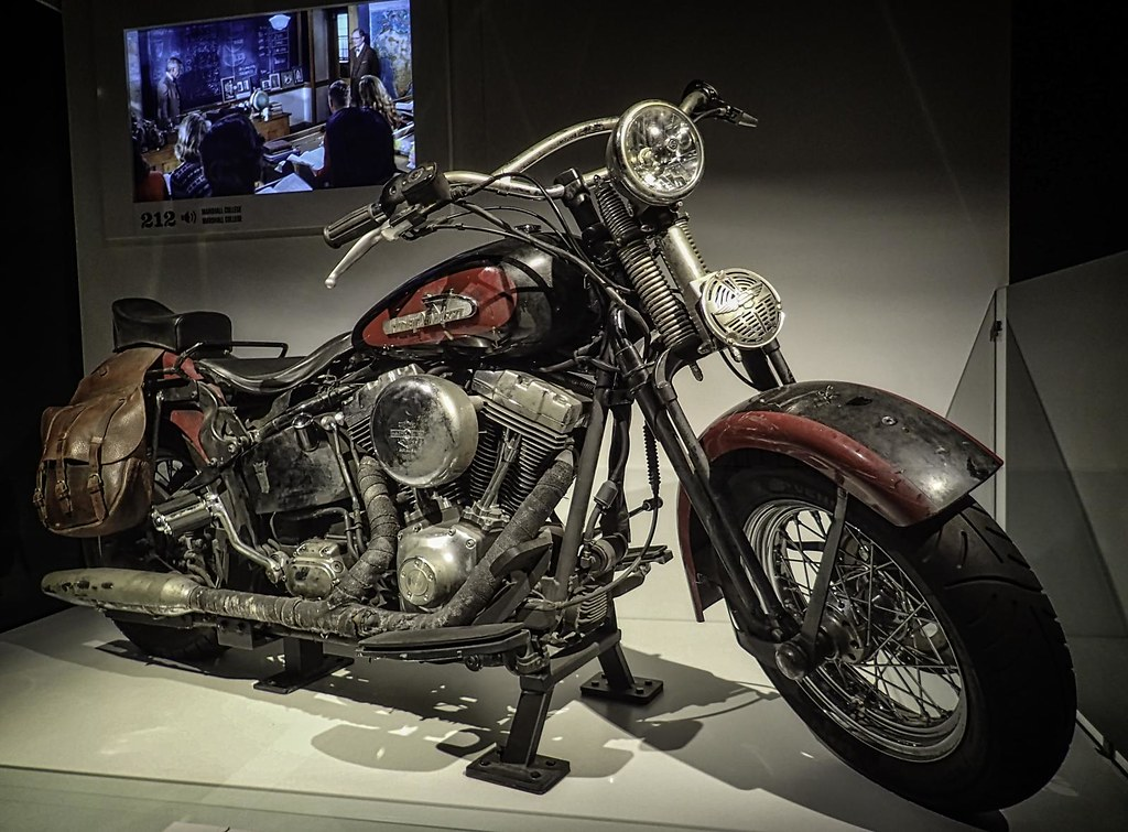 """mutt williams' (shia laboef) harley davidson from from """"in… 