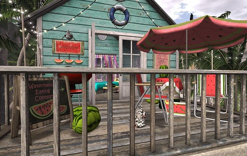 Fiesta Beach Shack: Front Deck | by Hidden Gems in Second Life (Interior Designer)