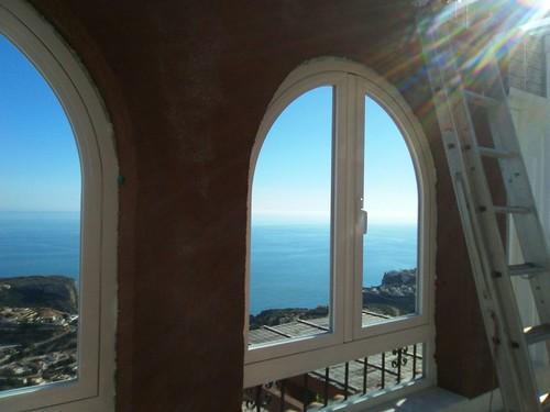 Cerramiento de terraza con techo de aluminio ventanas de for Cristaleria benissa