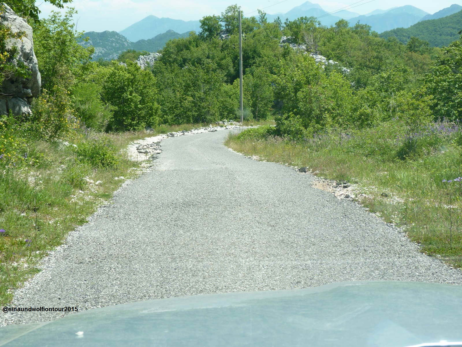 Straße nach Njegusi, Lovcen Nationalpark