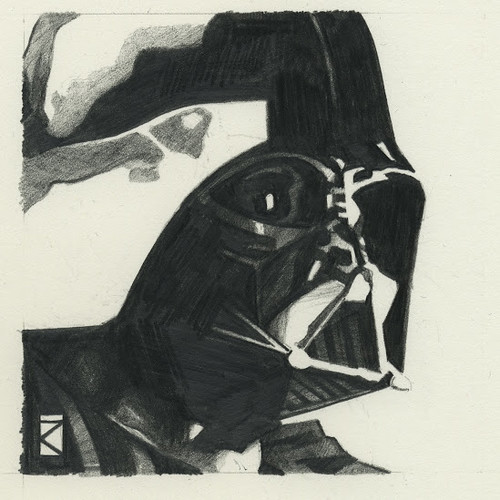 Star Wars illustrations by Russell Walks - Darth Vader