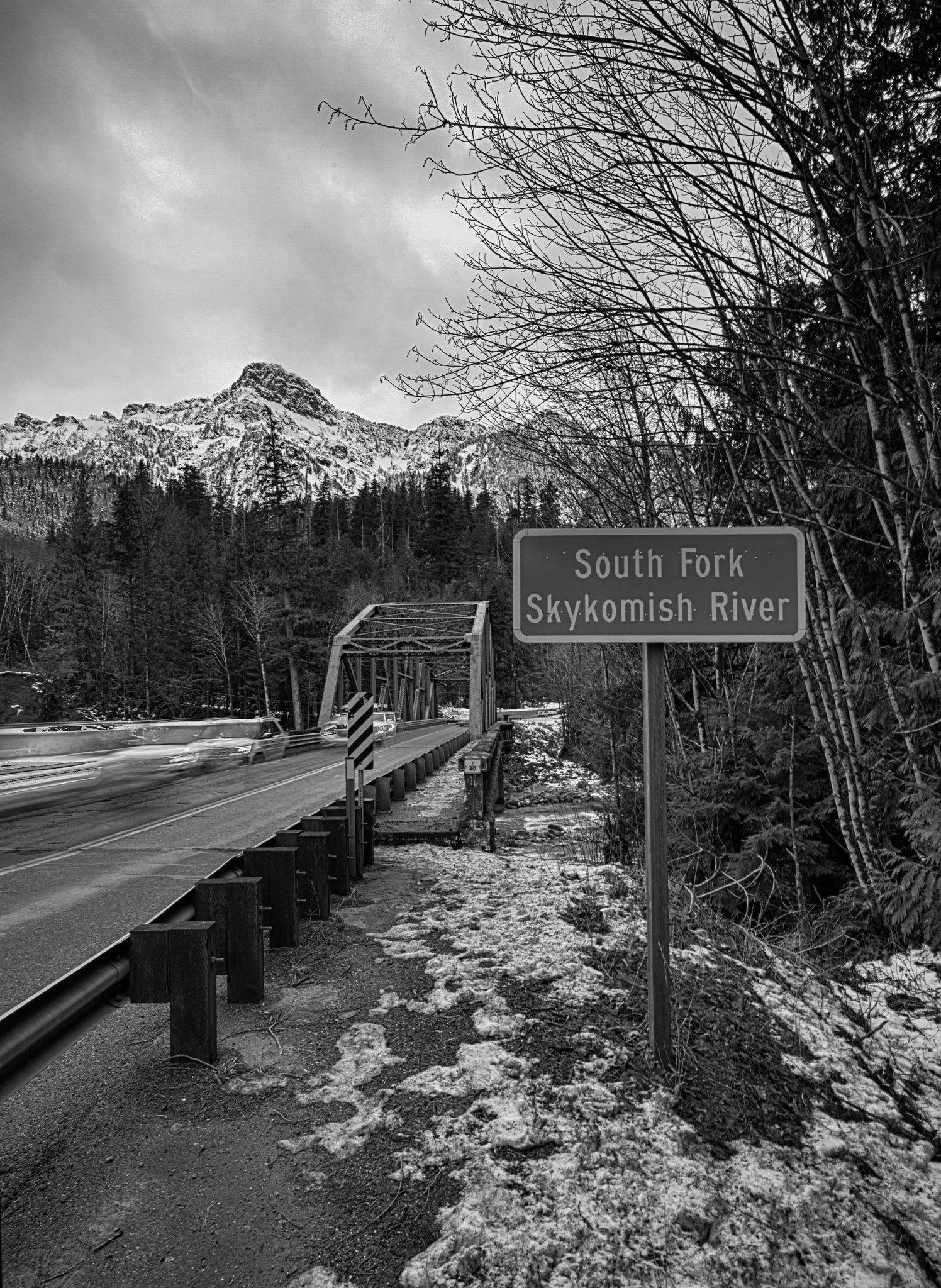 Skykomish River (B/W)
