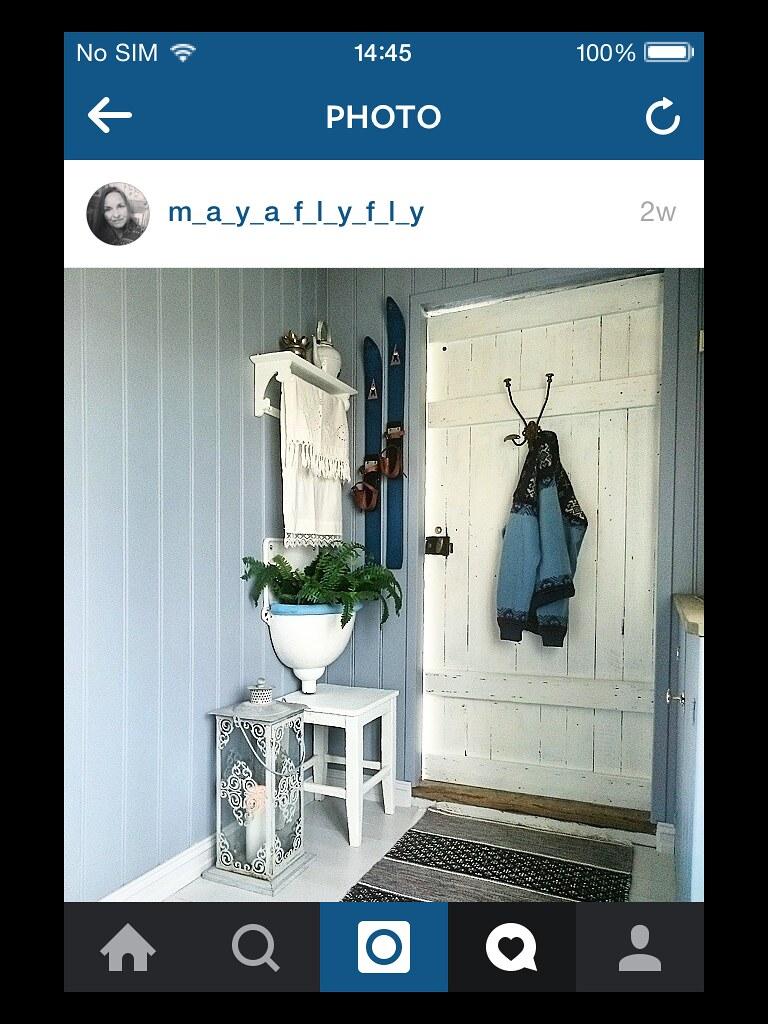 Вход в один из Скандинавсих домиков - со спокойными пастельными цветами и умеренным количеством деталей.