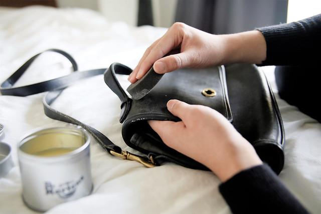 restoring vintage leather purse
