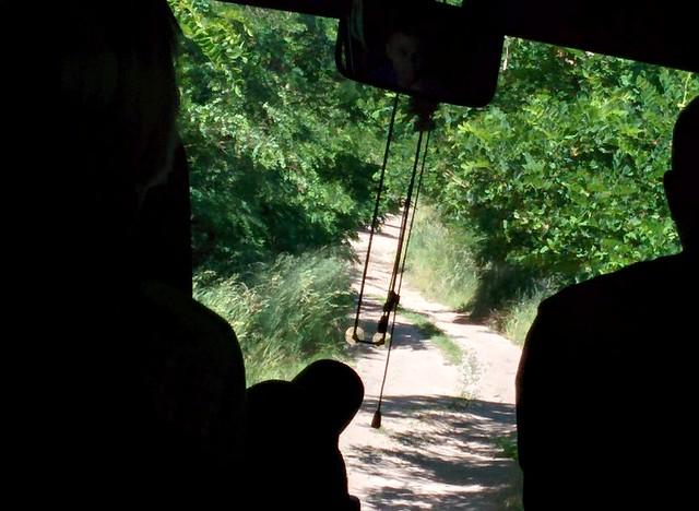 Big bus, narrow road