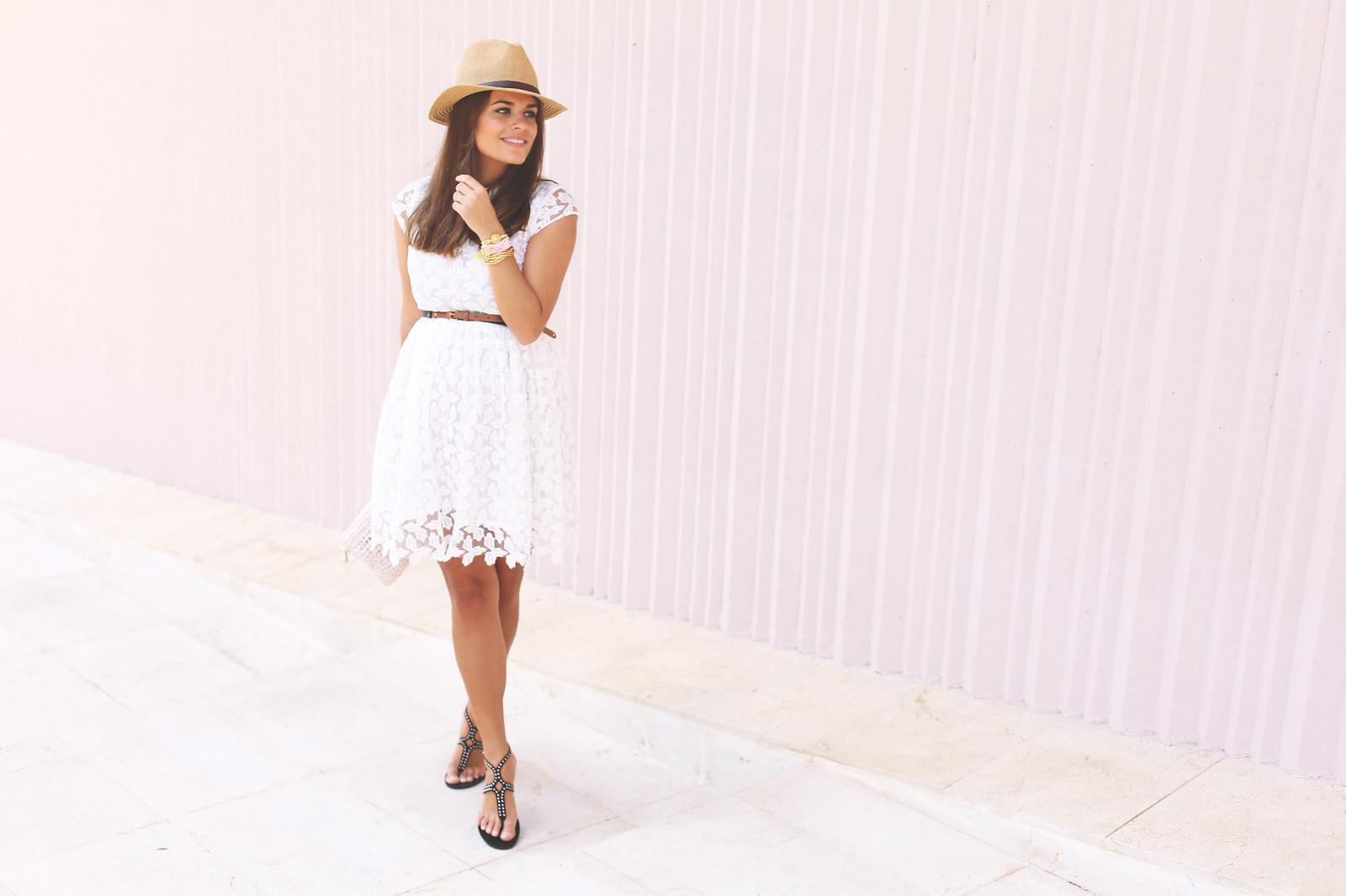 2. lace white short dress - jessie chanes - pregnancy