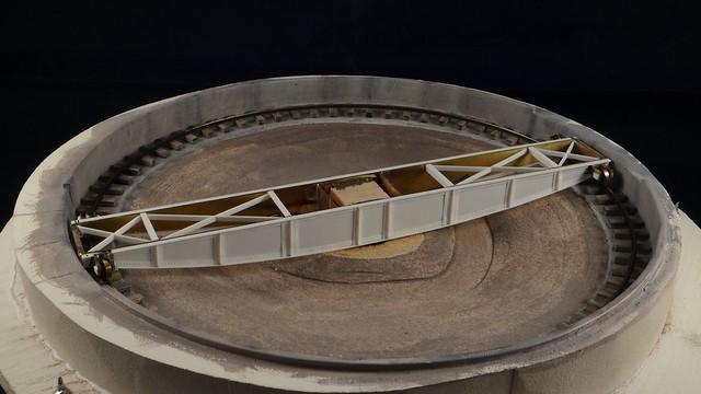 Turntable on its wheels