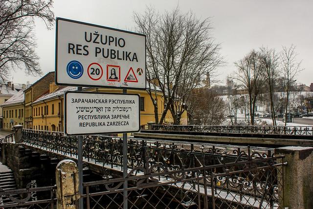 República de Užupis en la capital de Lituania