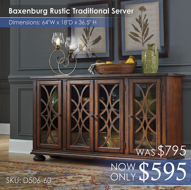 Baxenburg Rustic Traditional Server D506-60