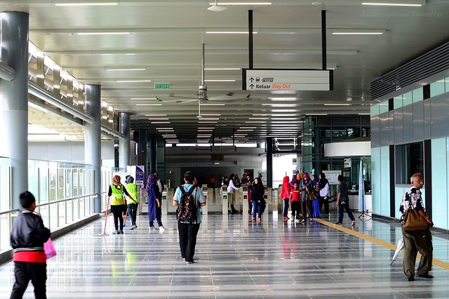 Commuters can get onto the KTM Komuter at Sungai Buloh station