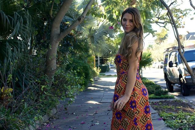 African Wax Print Dress