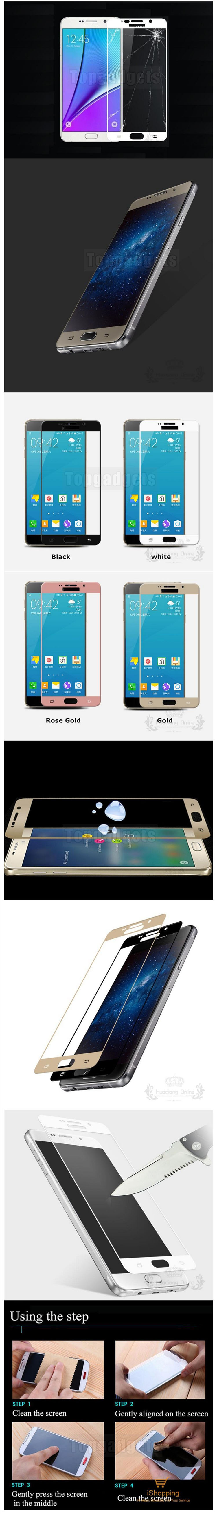 full cover tempered glass screen protector for samsung a3 a5 a7 a8 plus a9 2016 2017 2018. Black Bedroom Furniture Sets. Home Design Ideas