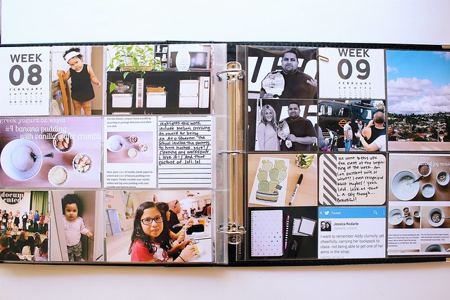 january  2015 & february 2015 :: pocket memory keeping // project life