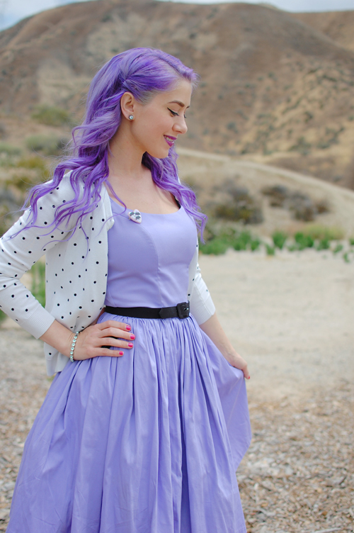 Pinup Couture Jenny dress in Lavender