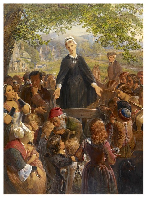 012-Dinah Morris preaching on the common  dated 1861-E. H. Corbould-via Royal Collection Trust